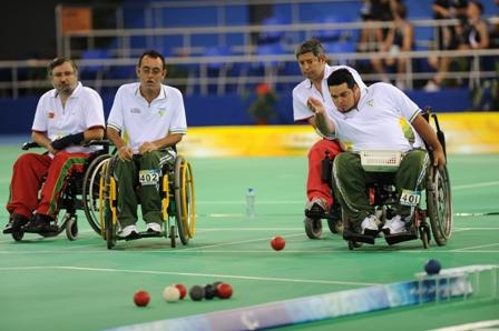 Os brasileiros Dirceu Pinto e Eliseu dos Santos, atuais campeões paraolímpicos nas duplas. Foto: CPB/Divulgação