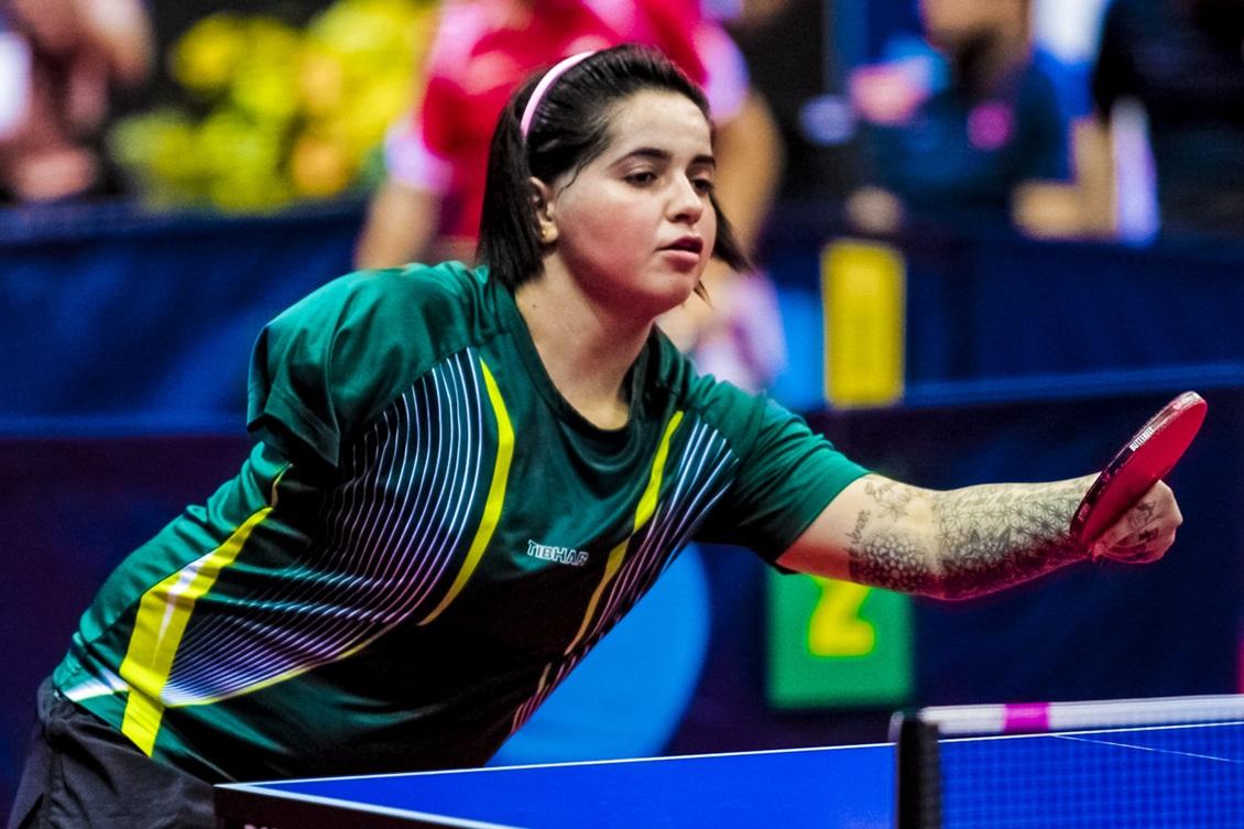 066d5107321d4 Bruna foi a primeira mulher brasileira a conquistar uma medalha paralímpica  no tênis de mesa. Foto  ITTF