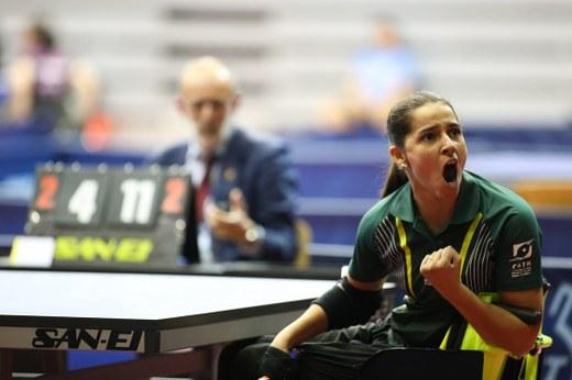 51988285b550a Catia Oliveira leva o Brasil à primeira final de Mundial no tênis de mesa  paralímpico
