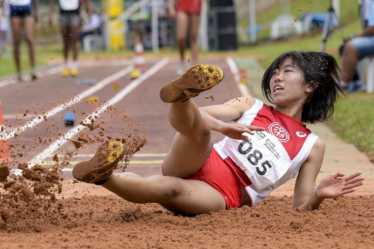 Azuki Nakatsugawa, do Japão, na prova de salto em distância.Foto: Washington Alves/Exemplus/COB