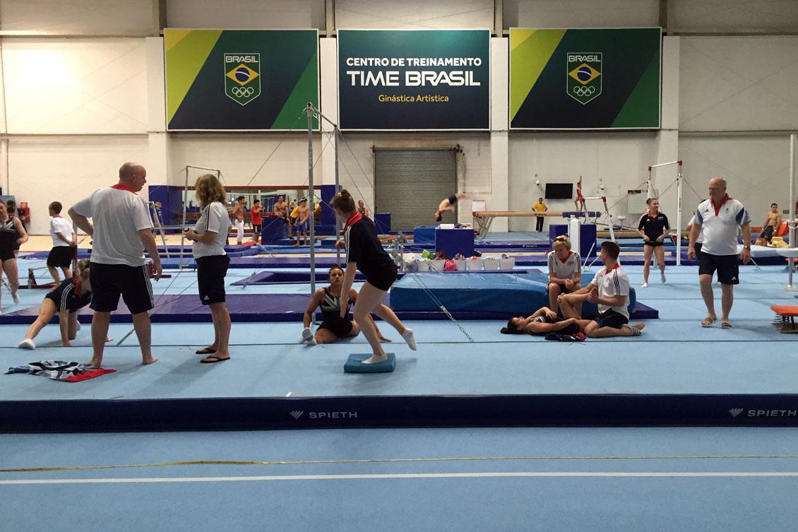 Portugal e Grã-Bretanha treinam no CT de ginástica do Time Brasil ... 873f1e9d3aa74