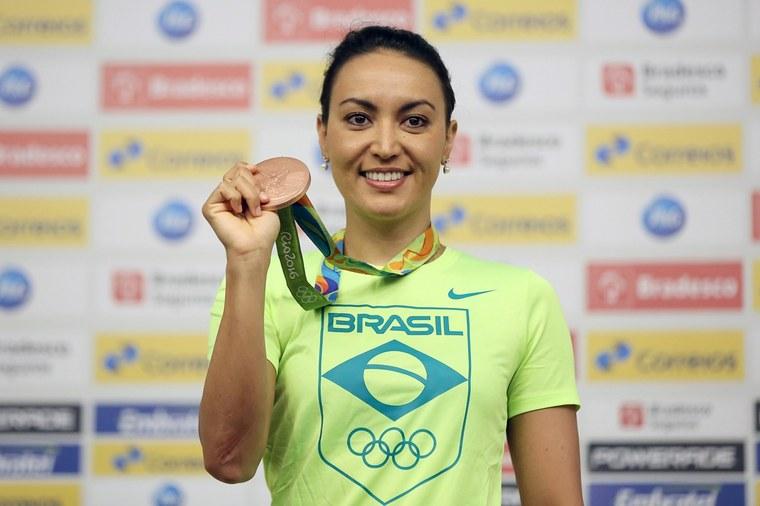 Poliana Okimoto avalia que a Bolsa Pódio foi decisiva para conquistar o bronze olímpico. Foto: Francisco Medeiros/ME