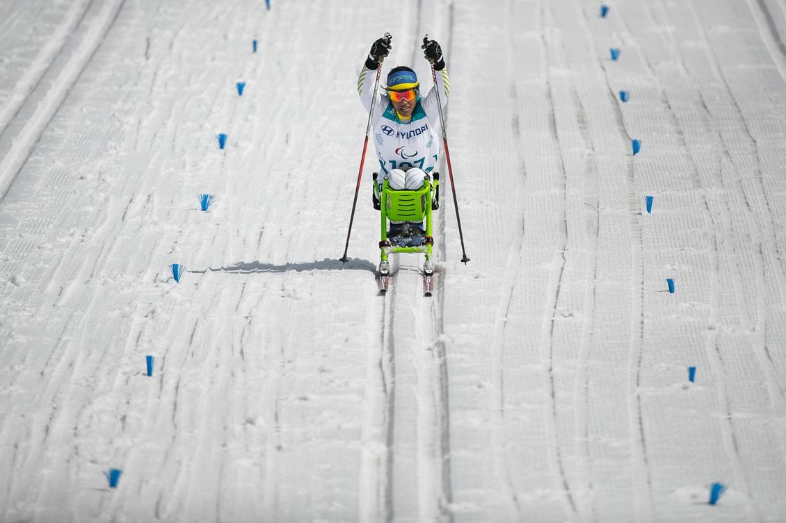 2ec37e19af Aline na reta de chegada da prova do cross-country  agora a chave vira para  os Jogos de Verão. Foto  Marcio Rodrigues MPIX CPB.