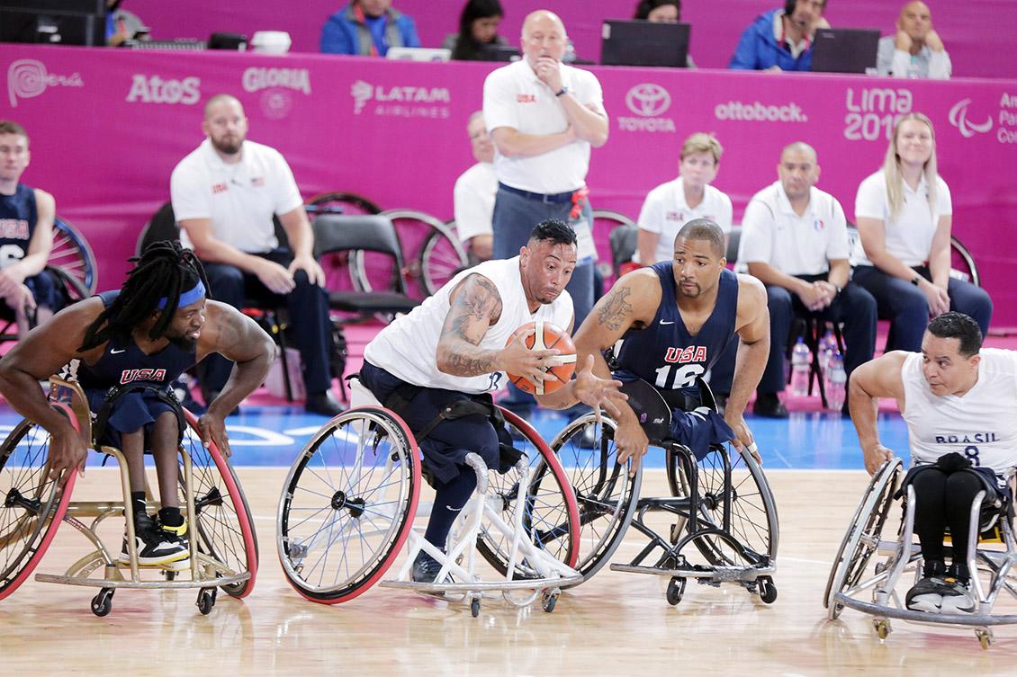 O basquete em cadeira de rodas foi a modalidade mais impactada pela recomposição de orçamento do Bolsa Atleta. Foto: Francisco Medeiros/Ministério da Cidadania