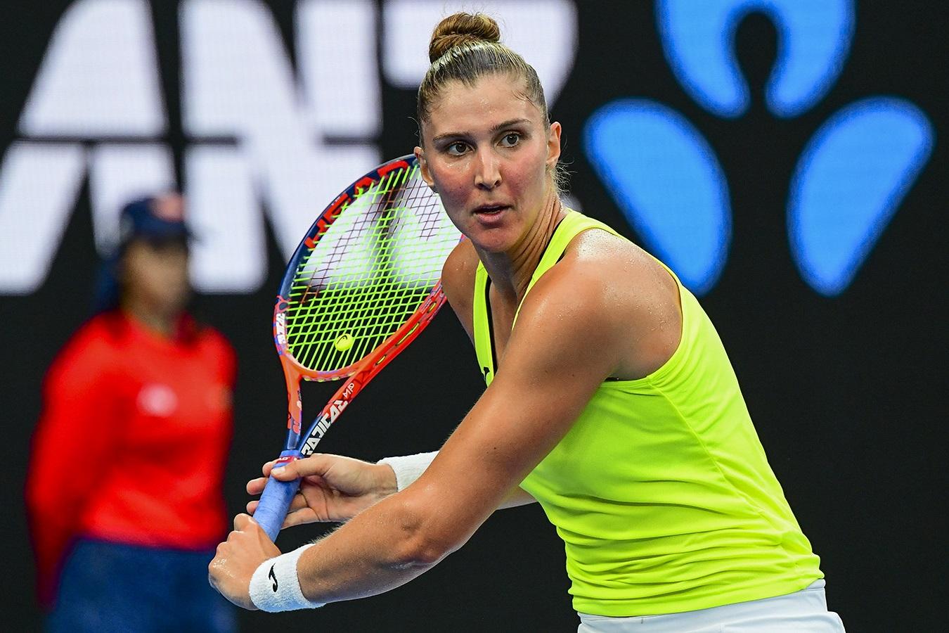 47881aa202c Bia Haddad conquista a maior vitória da carreira. Foto  Divulgação Tennis  Australia.